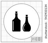 oil bottles simple icon   Shutterstock .eps vector #542933134