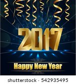 happy new year for 2017... | Shutterstock . vector #542935495
