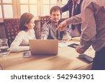 business partners meeting for... | Shutterstock . vector #542943901