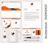 corporate identity design   Shutterstock .eps vector #542945425