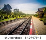 Little Train Station In The...