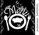 restaurant menu template  dish  ... | Shutterstock .eps vector #542955151