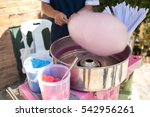 people make cotton candy for... | Shutterstock . vector #542956261