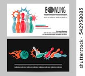 bowling vector poster  flyer or ... | Shutterstock .eps vector #542958085