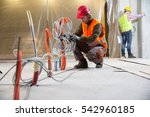 portrait of a worker ... | Shutterstock . vector #542960185