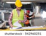 portrait of a worker ... | Shutterstock . vector #542960251