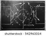 soccer plan chalk board with... | Shutterstock . vector #542963314