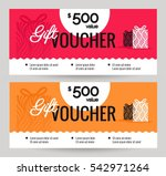 gift voucher coupon discount.... | Shutterstock .eps vector #542971264