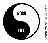 work life balance yin yang... | Shutterstock .eps vector #542971579