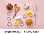 dessert ingredients and... | Shutterstock . vector #542975554