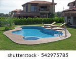 residence with swimming pool | Shutterstock . vector #542975785