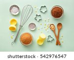 dessert ingredients and... | Shutterstock . vector #542976547