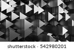 3d abstract background made of... | Shutterstock . vector #542980201