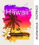 tropical background. aloha... | Shutterstock .eps vector #54298423