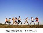 business team of 8 person...   Shutterstock . vector #5429881