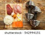 protein diet  fish  cheese ... | Shutterstock . vector #542994151