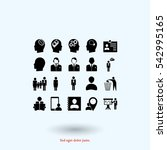 business man icons  vector best ... | Shutterstock .eps vector #542995165