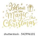 believe in the magic of... | Shutterstock .eps vector #542996101
