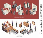 law system isometric horizontal ... | Shutterstock . vector #542997907
