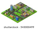 industrial and residential city ... | Shutterstock . vector #543000499