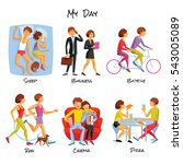 lifestyle icons set. lifestyle  ... | Shutterstock . vector #543005089