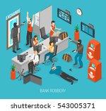 bank robbery concept. bank... | Shutterstock . vector #543005371