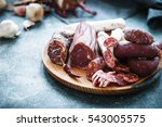spanish cured meat  jamon  lomo ... | Shutterstock . vector #543005575