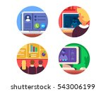 meeting or web conference icon... | Shutterstock .eps vector #543006199