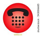 telephone  handset  buttons ... | Shutterstock .eps vector #543006685