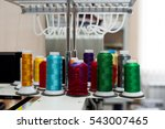 multi colored coils of threads | Shutterstock . vector #543007465