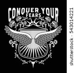 conquer your fears.vector wings. | Shutterstock .eps vector #543014221