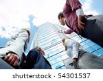 below view of business partners ... | Shutterstock . vector #54301537