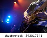 the guitarist plays solo. close ... | Shutterstock . vector #543017341