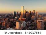 dallas  texas cityscape at... | Shutterstock . vector #543017569