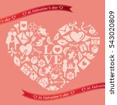 flat icon in the heart   Shutterstock .eps vector #543020809