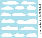 cloud vector   icon background | Shutterstock .eps vector #543028441