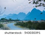 the countryside and mountains... | Shutterstock . vector #543030391