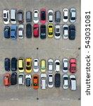 empty parking lots  aerial view.   Shutterstock . vector #543031081