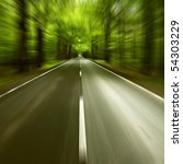 road in motion blur | Shutterstock . vector #54303229
