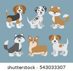 Vector Set With Cute Cartoon...
