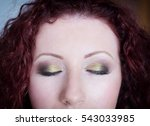 professional makeup on closed... | Shutterstock . vector #543033985