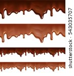 melted chocolate dripping on... | Shutterstock .eps vector #543035707