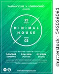 """minimal house"" party poster.... 