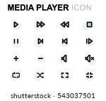 vector flat media player icons... | Shutterstock .eps vector #543037501