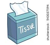 blue green box of tissue... | Shutterstock .eps vector #543037594