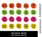 vector sale tag on a paint blot ... | Shutterstock .eps vector #543038965