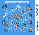 isometric development... | Shutterstock . vector #543040249