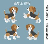 vector set with cute cartoon... | Shutterstock .eps vector #543041257