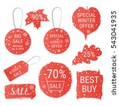 big winter sale  christmas sale ... | Shutterstock .eps vector #543041935