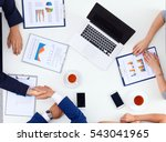 business people sitting and... | Shutterstock . vector #543041965